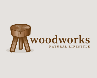 Woodworks Wooden Stool (for sale)