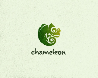 Logo design inspiration #31 - chameleon by Max