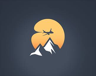 Mountain flight icon