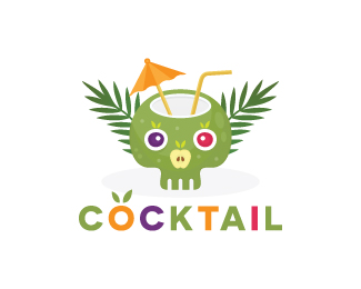 Skull Cocktail Logo