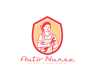 Auto Nurse Car Maintenance Logo