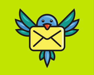 Bird + envelope