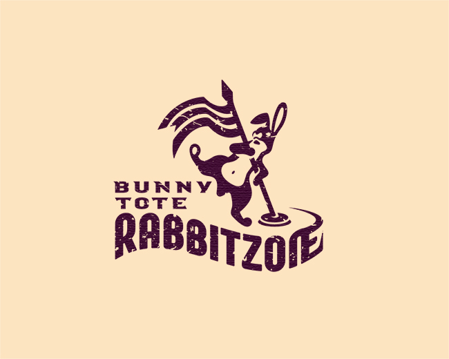 Rabbit Racing Logo Tote