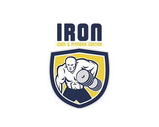 Iron Gym and Fitness Center Logo