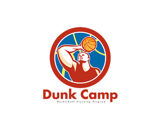Dunk Camp Basketball Training Program Logo