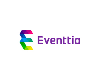 Eventtia, technology for events, logo design