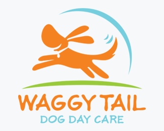 Waggy Tail Dog Daycare Logos for Sale