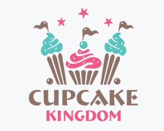 Cupcake Kingdom Logos for Sale