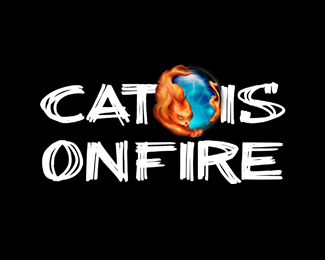 CAT IS ON FIRE