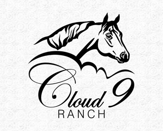 Horse Logo for Cloud 9 Ranch