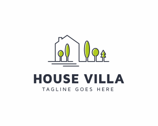 House Villa Logo Template