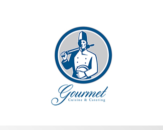 Gourmet Cuisine and Catering Logo Retro