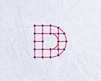 Dot Connected Letter D