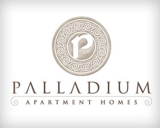 Logopond logo brand identity inspiration palladium for Apartment logo inspiration