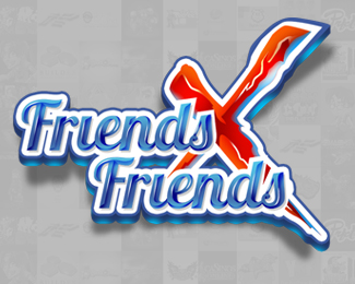 Friends x Friends Logo Design