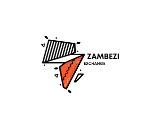 ZAMBEZI EXCHANGE letter logo icon