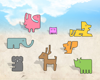 Kinetic Puzzle - Animals
