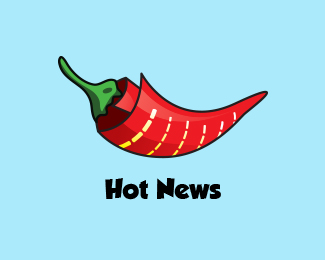 Hot News Logo - Latest News Services Brand
