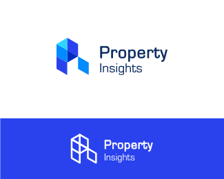 Property Insights letter p & i logo icon