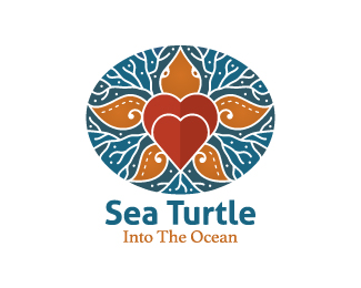 Stylish Sea Turtle Logo