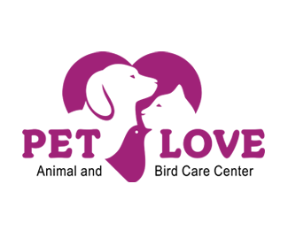 Pet Love Animal Bird Care Center Logo Sold