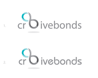 Creative Bonds logo font option 1 and 2