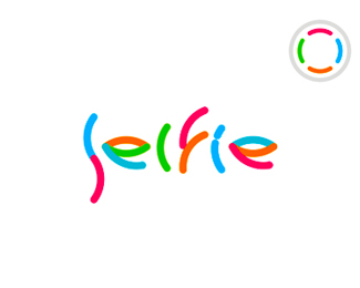 Selfie video social network logo design