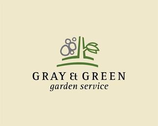 Elegant Grey U0026 Green Garden Service