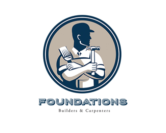 Foundations Builders and Carpenters Logo