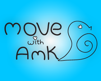 Move With AMK Logo Design