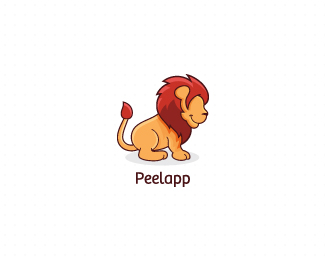 lion mark @peelapp colored