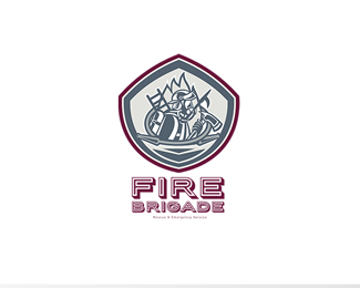 Fire Brigade Rescue and Emergency Services Logo