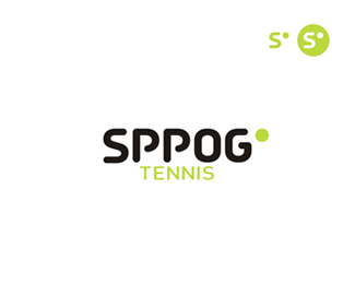 Sppog tennis logo and app icon design
