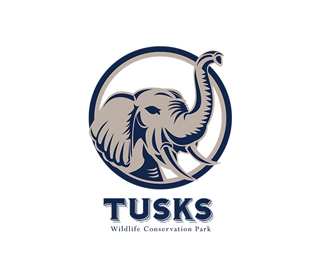 Tusk Elephant Head Logo