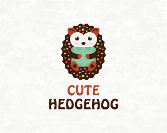 Hedgehog With Cushion Logo