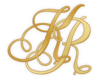 KR wedding monogram