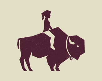 Girl and the Bison