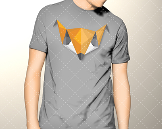 One Off Origami Fox Logo For Sale