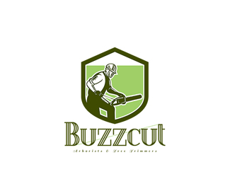 Buzzcut Arborist and Tree Surgeons Logo