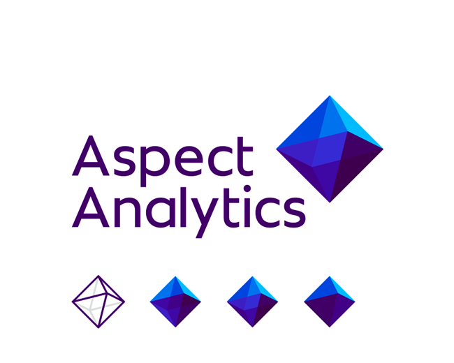 Aspect Analytics logo design for 3D spectral tools