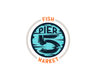Pier 5 Fish Market - full color, minimal version