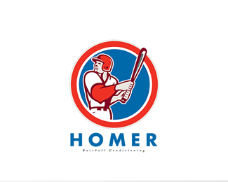 Homer Baseball Conditioning Logo