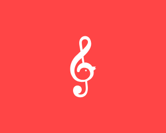 music bird logo icon