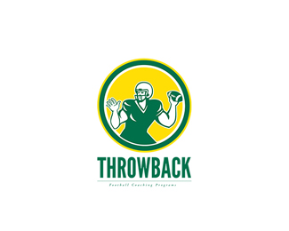 Throwback Football Coaching Logo