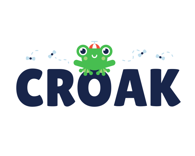 Croak - Frog logo