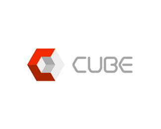 Cube interior design studio logo design