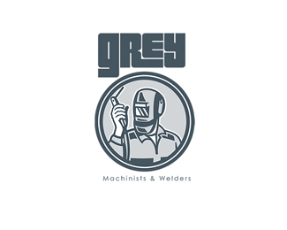 Grey Machinist and Welder Logo