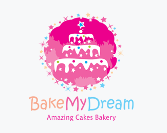 Bake My Dream Cakes Bakery Logos for Sale