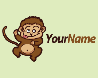 Cute Little Monkey Mascot Logo Design