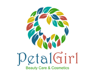 Petal Girl Beauty Care Cosmetics Logo for Sale